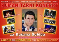 Humanitarni koncert ZA DUŠANA - večeras u Bogatiću