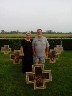 Izložba slika Pomen golgoti Srbije u Šapcu