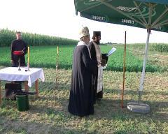 Епископ шабачки Лаврентије освештао темељ цркве - капеле у Богатићу