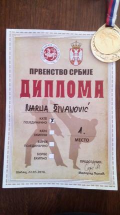 Zlatna Marija po drugi put za redom prvakinja Srbije