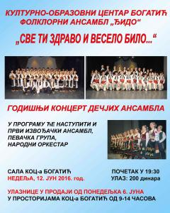 Koncert dečjih ansambala FA Đido u nedelju