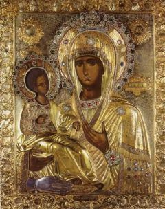 Икона Пресвета Богородица Тројеручица
