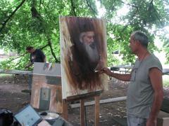 Boje zavičaja u hladu lipe na platnima umetnika u Sovljaku