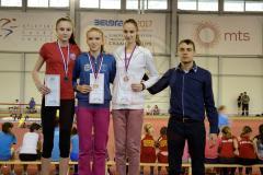 Atletičari Sprinta osvojili šest medalja i postavili sedam ličnih rekorda (Kristina Petrović u sredini)