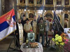 Parastos Dragoljubu Draži Mihailoviću u crkvi Rođenja presvete Bogorodice u Bogatiću