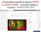 706 posetilaca pratilo live stream preko MAČVA INFO